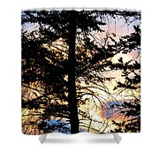 Cariboo District Sunset Shower Curtain