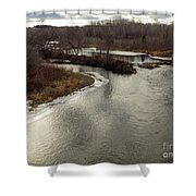 Caribou Stream Looking East Shower Curtain