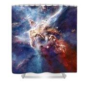 Carina Nebula Pillar Shower Curtain