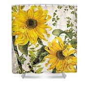 Carina Sunflowers Shower Curtain