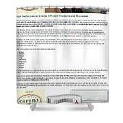 Cariniair Infographics Shower Curtain