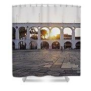 Carioca Aqueduct, Rio De Janeiro Shower Curtain