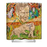 Carlos Arruza Shower Curtain