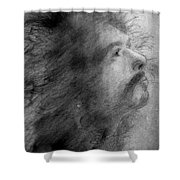 Carlos Santana Shower Curtain