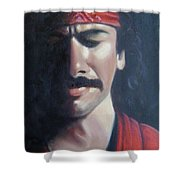 Carlos Santana Shower Curtain