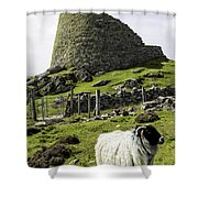 Carloway Broch Shower Curtain
