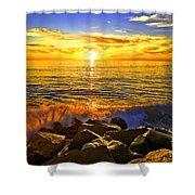 Carlsbad Sunset Shower Curtain