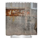 Carlton 16 Concrete Mortar And Rust Shower Curtain