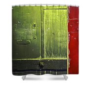 Carlton 6 - Firedoor Abstract Shower Curtain