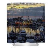 Carmel Coast Marina Shower Curtain