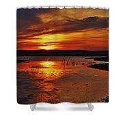 Carmel Colored Sunset In Kansas.  Shower Curtain