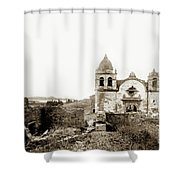 Carmel Mission By A.j. Perkins 1880 Shower Curtain
