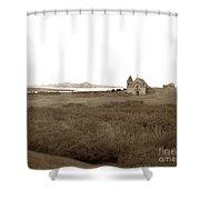 Carmel Mission Circa 1885 Shower Curtain