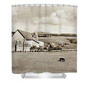 Carmel Mission Circa 1920 Shower Curtain