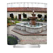 Carmel Mission Courtyard Shower Curtain
