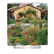 Carmel Mission Courtyard Garden Shower Curtain