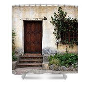 Carmel Mission Door Shower Curtain