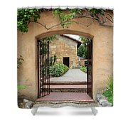 Carmel Mission Path Shower Curtain