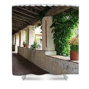 Carmel Mission Walkway Shower Curtain