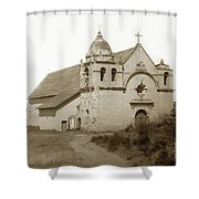 Carmel Mission  With The New Peaked Roof  1884 Shower Curtain