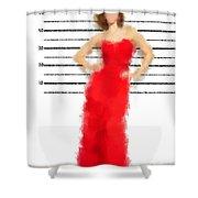 Carmela Shower Curtain by Nancy Levan