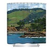 Carmelite Monastery Near Point Lobos Shower Curtain