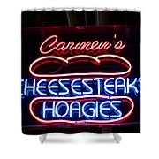 Carmens Cheesesteaks Shower Curtain