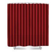 Carmine Red Striped Pattern Design Shower Curtain