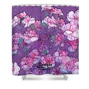 Carnation Inspired Art Shower Curtain