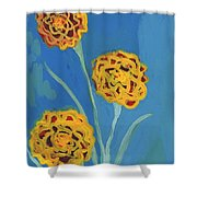 Carnations Against A Summer Sky Shower Curtain
