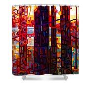 Carnelian Morning Shower Curtain by Mandy Budan