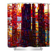 Carnelian Morning Shower Curtain