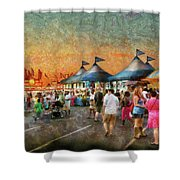 Carnival - Who Wants Gyros Shower Curtain