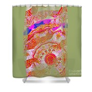 Carnival Abstract 2 Shower Curtain