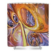 Carnival Abstract Shower Curtain