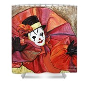 Carnival Clown Shower Curtain