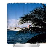 Carnival Docked At Grand Cayman Shower Curtain