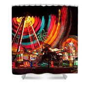 Carnival In Motion Shower Curtain