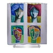 Carnival Masks Shower Curtain