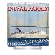 Carnival Paradise Custom Pc One Shower Curtain