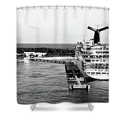 Carnival Sensation Cruise Ship - Grand Turk Island Shower Curtain