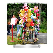 Carnival Vendor 3 Shower Curtain