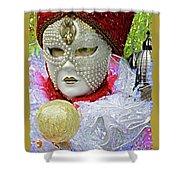Carnivale Mask #10 Shower Curtain