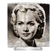 Carole Landis, Vintage Actress Shower Curtain