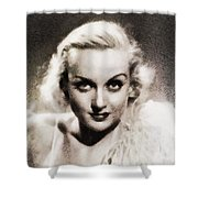 Carole Lombard, Vintage Actress By John Springfield Shower Curtain