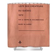 Carole Spandau Archived Liste Des Createurs Du Quebec 1972 Shower Curtain