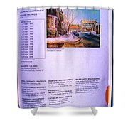 Carole Spandau Listed In Magazin'art Biennial Guide To Canadian Artists In Galleries 2002-2003 Edit Shower Curtain
