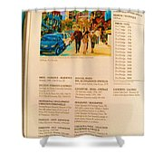 Carole Spandau Listed In Magazin'art Biennial Guide To Canadian Artists In Galleries 2006-2008 Edit Shower Curtain