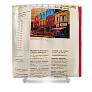 Carole Spandau Listed In Magazin'art Biennial Guide To Canadian Artists In Galleries 2009-2010 Edit Shower Curtain
