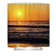 Carolina Beach Sunrise Shower Curtain